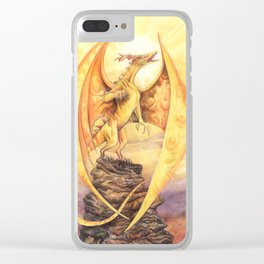 Celestial Dragons - The Sun Clear iPhone Case