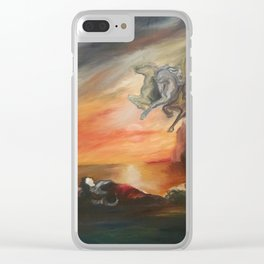 Dreaming Chariot Clear iPhone Case