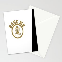 Bang Me Disc Golf Funny Stationery Cards