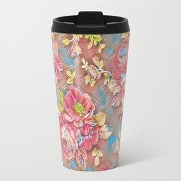 Pink Floral Travel Mug