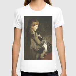 Abbott Handerson Thayer - The Favorite Kitten T-shirt