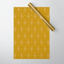 Art Deco Vector in Gold Wrapping Paper