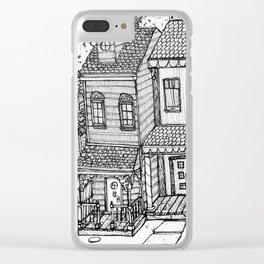 Row Houses Clear iPhone Case