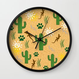 Desert Pattern Wall Clock