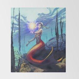 Mermaid Chun Li Throw Blanket