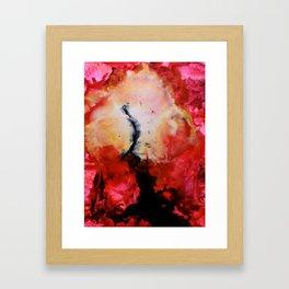 Reaching. Framed Art Print