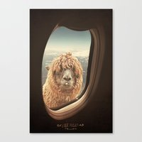 llama Canvas Prints featuring QUÈ PASA? by Monika Strigel