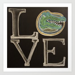 gator love chalk Art Print