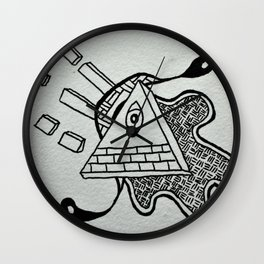 Inky Insperation Wall Clock