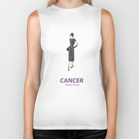 cancer Biker Tanks featuring Cancer by Cansu Girgin