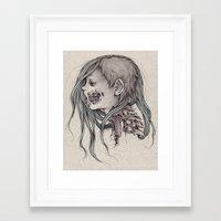 gore Framed Art Prints featuring Gore Girl by Savannah Horrocks