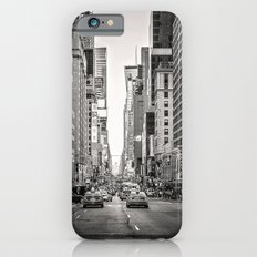 Sunset on 7th (Black and White Version) iPhone 6s Slim Case
