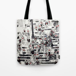 Hearts on the Move Tote Bag