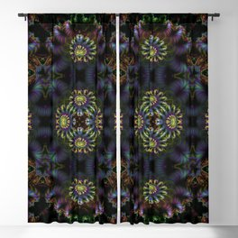 FRACTAL PATTERN  MYSTERIOUS FOREST 6 Blackout Curtain