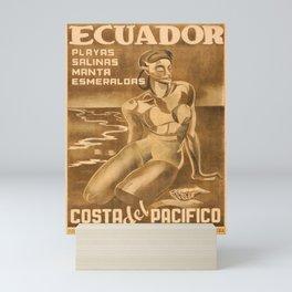 Nostalgic Ecuador voyage poster Mini Art Print