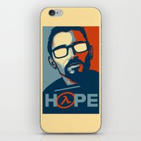 half life iPhone & iPod Skins featuring Half Life Hope by The Strynx