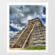 Messico e Nuvole Art Print