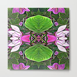 Lily Lily on the Wall Metal Print