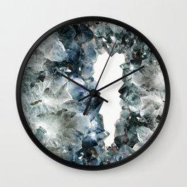 Crystal Photography | Sapphire | Gem | Stone | Geometry Wall Clock