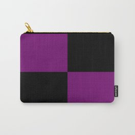 Psychedelic black and purple XIII. Carry-All Pouch