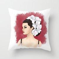 selena Throw Pillows featuring Selena by Quinn