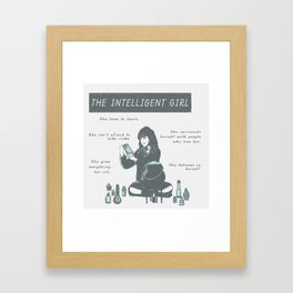 Hermione Granger / The Intelligent Girl Framed Art Print