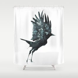 Crow Taking Off Shower Curtain