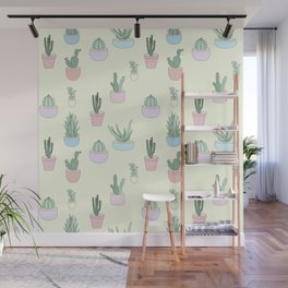 The Cactus Pattern Wall Mural