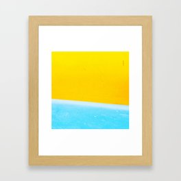 Sea & Sand Watercolor painting Abstract Framed Art Print