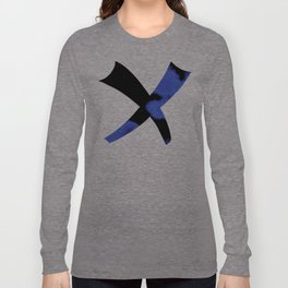 Blue Violet And Black Long Sleeve T-shirt