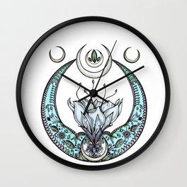 Moon Flower in Pastel Wall Clock