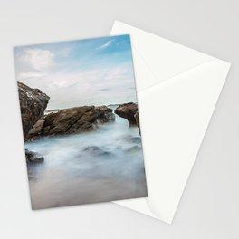 Scenic Coastal Rocks and Sea Spray Photograph Stationery Cards