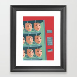 /BUY HAPPINESS/ Framed Art Print