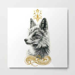 Beasts of the forest: Fox Metal Print