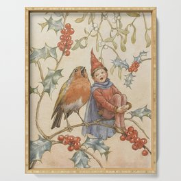 """""""A Christmas Duet"""" by Margaret Tarrant Serving Tray"""
