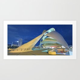 moon and architecture Art Print