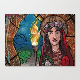 The Woman and the Cave Canvas Print