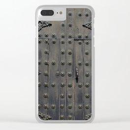 Old Black Door Clear iPhone Case