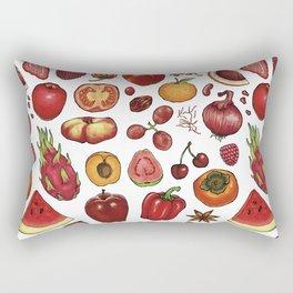 Red Food Rectangular Pillow