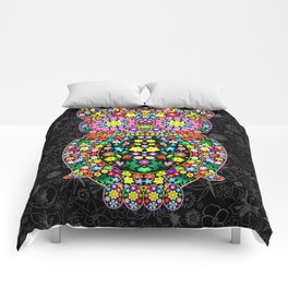 Owl Zentangle Floral   Comforters