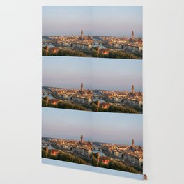 View of the city of Florence early in the morning. Wallpaper