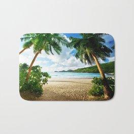 Palm Trees - Seashore - Paradise - Ocean - Blues Bath Mat