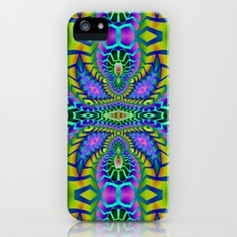 Tribal Rainbow Lotus iPhone Case