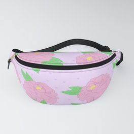Pastel pink peony pattern Fanny Pack