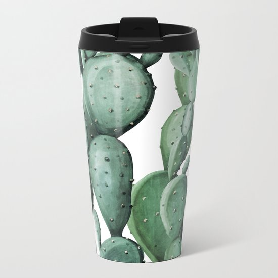 Cactus Party Metal Travel Mug