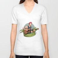 michael clifford V-neck T-shirts featuring CLIFFORD by gabitozati