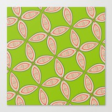 Christmas Tapestry: Green Canvas Print