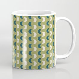 Abstract / Organic Surface Pattern (blue-green small) Coffee Mug