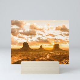 Southwest Wanderlust - Monument Valley Sunrise Nature Photography Mini Art Print