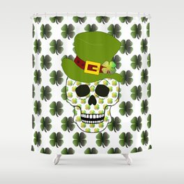 St Paddys Skull - St Patrick's Day Shower Curtain